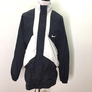 Nike Black White Windbreaker Nylon Jacket